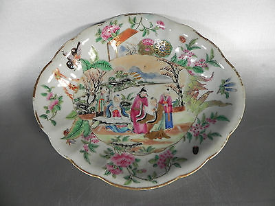 19th Century Chinese Export Canton Famille Rose Dish