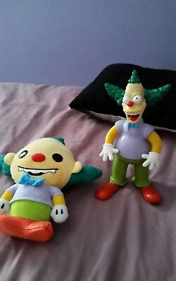 the simpsons krusty teddy and talking figure