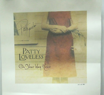 Patty Loveless - ON YOUR WAY HOME Autographed Ltd. Ed. Promo POSTER [2003]  VG++