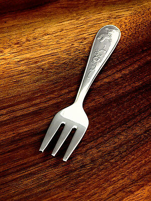 Princess House Silverplate Baby Fork: Exclusive Silverplate No Monogram