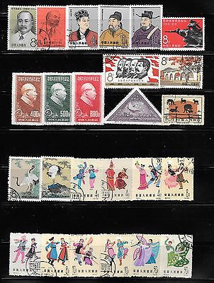lot 20 China stamps, some used, some favorite cancel
