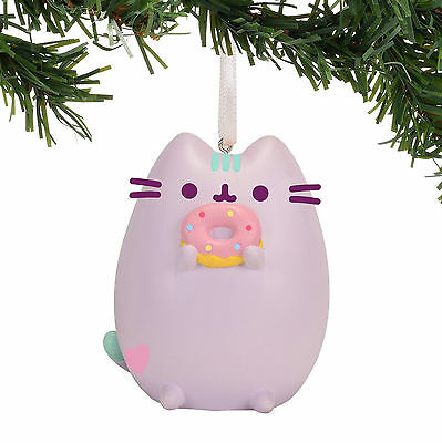 Pusheen Pastel Purple w/ Donut 2017 Christmas Ornament Dept 56 #4058303 NEW