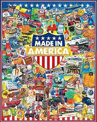 MADE IN AMERICA 1000 Piece Collectible Classic Jigsaw Puzzle Brand NEW sealed