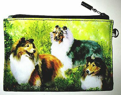 SHETLAND SHEEPDOG   Zippered Pouch by Maystead / full color design both sides