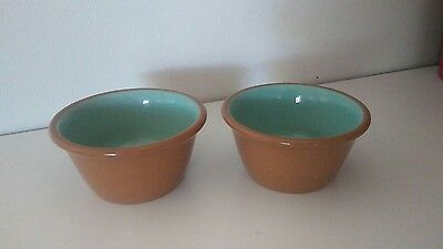 2 Chateau Buffet Ramekins by Taylor Smith Taylor, Cocoa & Turquoise