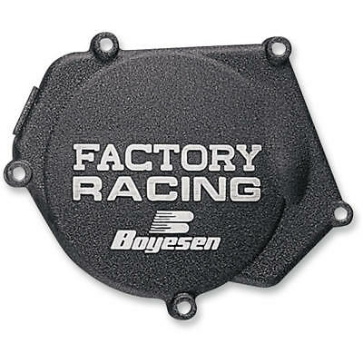 Boyesen Factory Racing Ignition Cover Black for Kawasaki KX250 1990-2004