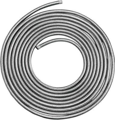 """DS Braided Stainless Gas/Oil Hose 3/8"""" x 25'"""