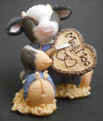 Mary's Moo Moos Carved A Place In My Heart 212822 Wood Carving Cow Heart Love