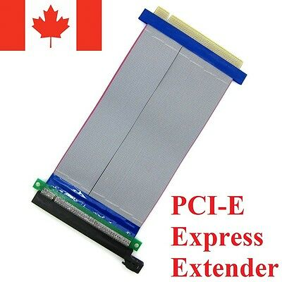 PCI-Express PCI-E 16X Riser Card Flex Flexible Ribbon Extender Extension Cable