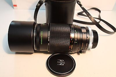 EXCELLENT RARE SIGMA-XQ MULTI-COATED 200mm 1:4 LENS FOR CANON FD/FL MOUTH CAMERA