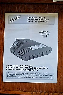 Milwaukee Manual 48-59-0240 48-59-0241 12 14.4 18 Volt Power Plus Charger