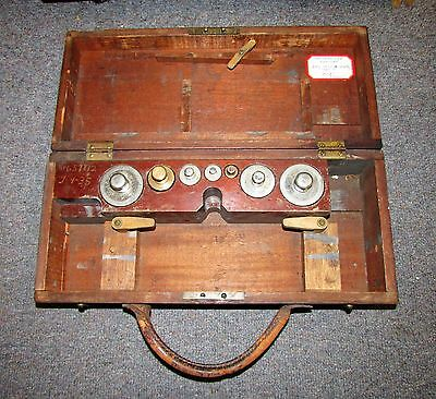 Antique Gurley Scale Box with Weight Set No Scale U S Food & Drug Admin