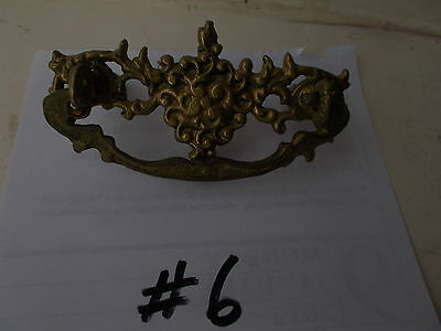 Antique Ornate Brass Drawer Cabinet Furniture Pulls Handle/ Knob Pic  #6