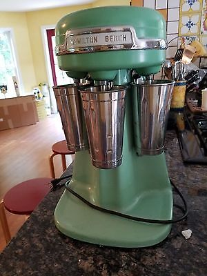 RARE Vintage Hamilton Beach 940 Triple Head Milk Shake Mixer, Jadeite, 3 Cups