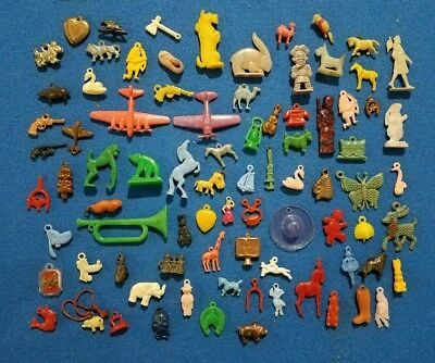 1950's Cracker Jack & gumball plastic toys - 80 + pieces - all in great conditio