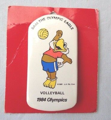 Collectors Pin Sam the Olympic Eagle Volleyball Olympics 1984