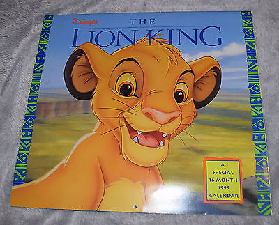 The Lion King 16 month 1995 Calendar Disney