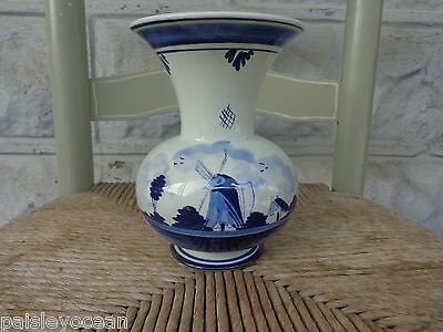 Delft Blue Vase Urn Handpainted Pottery 6.5 inches Tall made in Holland 29J