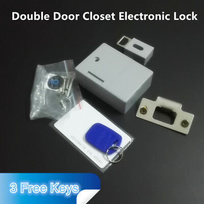 Hidden RFID Electronic Lock no Hole&damage for Double Door Cabinet Closet
