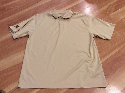 Mens Nike Polo shirt size L large Minn Gophers light yellow