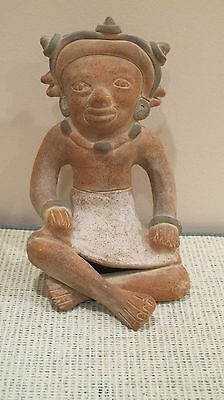 BEAUTIFUL ANTIQUE VINTAGE MEXICAN TERRA COTTA FIGURINE (Young Woman)