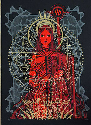 MELVINS & SLEEP Gig Poster 1/27/17 by Malleus MINT (S/N: 29/101)