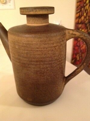 Zaalberg Holland Mid-Century Studio Pottery Coffee Pot -Perfect Condition Marked