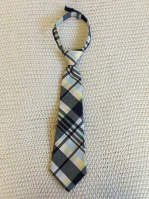 Janie and Jack Cotton Plaid Neck Tie Boys 1 2 3 Years NWT HTF $26