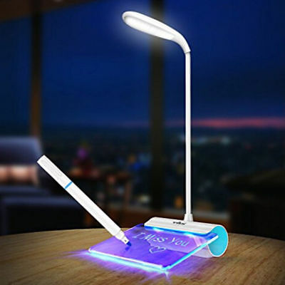 Dimmable Touch Sensor LED Light USB Desk Table Reading Book Lamp + Message Board