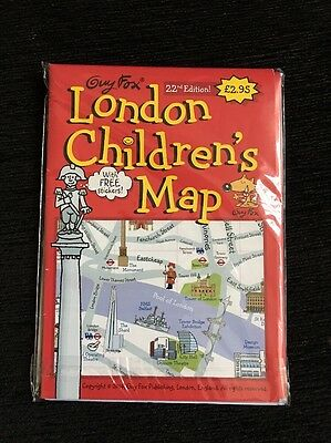 London Children's Map With Stickers
