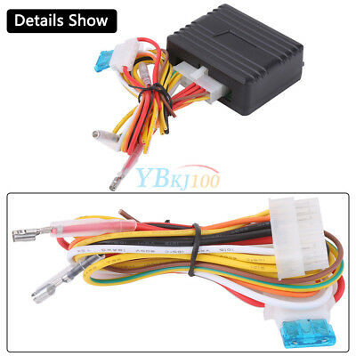 Automatic Power Window Roll Up Closer Module for 2 Door Cars Vehicle Black 12V