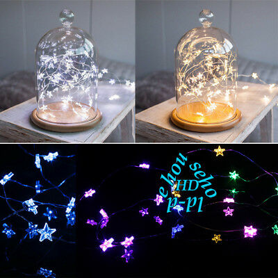 Star Fairy Copper Wire Light 20/50 LEDs Indoor Bedroom Christmas String Lights