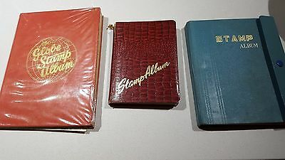 3 x ESTATE STAMP ALBUMS 1960's and Pre DECIMAL - amazing mix