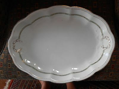 Large Edwin M Knowles Semi Vitreous Serving Tray
