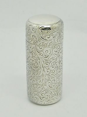 Beautiful Antique Victorian Solid Silver Perfume Scent Bottle Holder Hm 1885