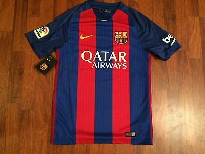 New Barcelona Nike shirt home BNWT blue red camiseta 2016-7