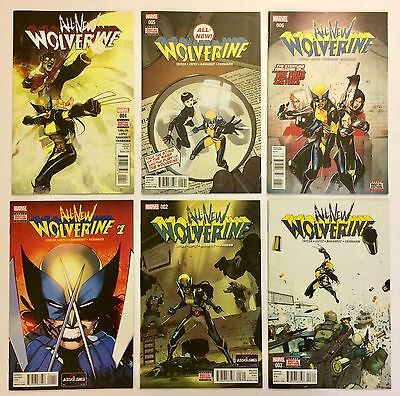 All-New Wolverine 1 2 3 4 5 6 NM LOT 1st Gabby 1st X-23 as Wolverine Marvel 2016