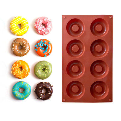 8 Cavitys Silicone Donut Baking Mold Cake Chocolate Cookie Candy Bakeware Mould
