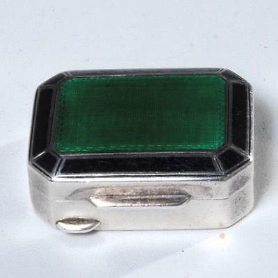 Vintage Tiffany & Co Sterling Silver And Guilloche Enamel Pill Box