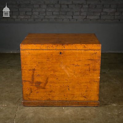 Late 19th C Oak Blanket Box with Handles