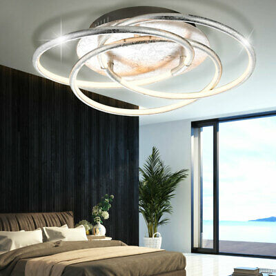 28 watt led decken lampe wellen design leuchte silber beleuchtung geschwungen eur 99 90. Black Bedroom Furniture Sets. Home Design Ideas