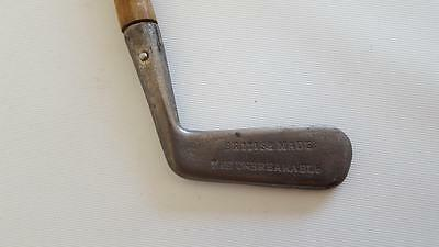 Antique British Made The Unbreakable Line Faced Putter Hickory Shaft Golf Club