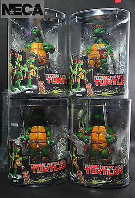 4 PCS Brand New NECA Teenage Mutant Ninja Turtles TMNT Action Figures Retail Box