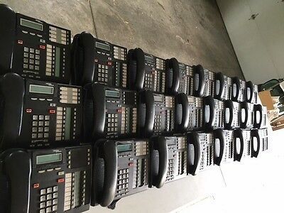 LOT of 23! Nortel T7316e phones, 1 KIM included, 23 handsets too, FREE SHIPPING