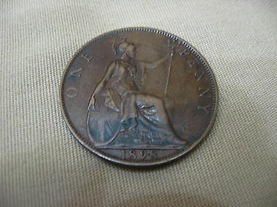 1898 Great Britain One Penny Coin * Victoria * [ Very Nice ]