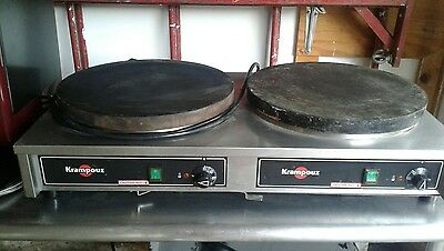 "Krampouz 34"" X 18"" X6"" Dual Electric Cast Iron Crepe Maker"