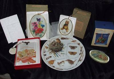 Marjolein Bastin Plate Suncatchers Ornament Paperweight lot!! NEW!
