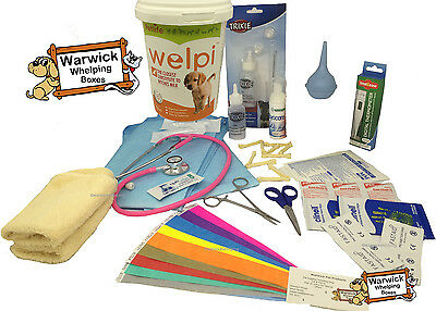 Warwick Whelping Boxes  Deluxe Whelping Kit with 250g Welpi Puppy Milk Dog