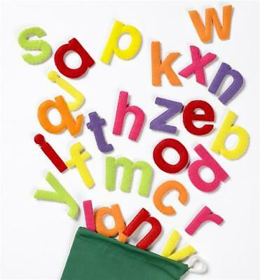 Colourful Felt Motifs Lower Case Letters of the Alphabet Fun abc Teaching Toy!