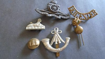 MIXED LOT OF 6 MILITARY ITEMS  incl Badges,collars etc